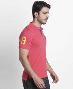 d0f45048a94584 FBB Spunk by FBB Printed Men Polo Neck Orange T Shirt Best Price in ...