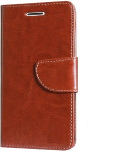 release date: 24c9f 81ccd Hoverkraft Flip Cover for OPPO Realme 1Brown, Artificial Leather