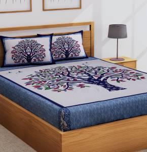Flipkart SmartBuy 104 TC Cotton Double Self Design Bedsheet
