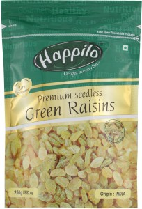 Happilo Premium Seedless Green Raisins