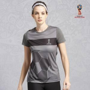 FIFA Printed Women's Round Neck Grey T-Shirt