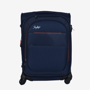 Skybags Jive Soft Trolley 56 cm (Blue) Cabin Luggage - 22 inch