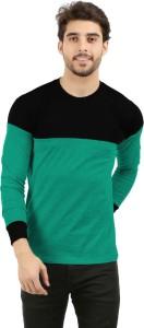 THE ARCHER Solid Men Round Neck Green T-Shirt