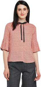 Annabelle by Pantaloons Formal 3/4th Sleeve Printed Women's Red Top