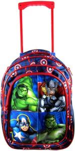 Ehuntz by  Captain America, iron man Trolley school/travel bag (9 to 17 years) (EH1091) Waterproof Trolley