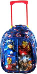 Ehuntz by  Captain America, iron man Trolley school/travel bag (9 to 17 years) (EH1090) Waterproof Trolley