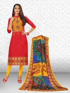 Divastri Cotton Printed Salwar Suit Dupatta Material Un stitched