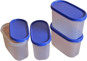 Tupperware MM Oval#3 Storage Container,1.7 Litres ,Set Of 4 Transparent  - 1.7 L Plastic Grocery Container, Spice Container, Tea Coffee & Sugar Container, Utility Box