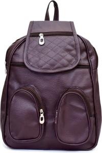 SPLICE PU Leather Backpack School Bag Student Backpack Women Travel bag 6 L Backpack