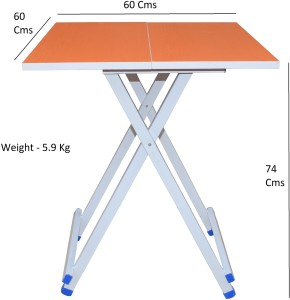 5a74a8c32 Flipzon Multipurpose Foldable Wooden Table Solid Wood Outdoor Table Finish  Color Orange Best Price in India