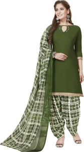 Ishin Synthetic Printed Salwar Suit Dupatta Material Un stitched