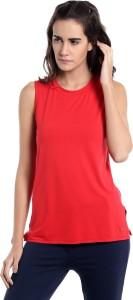 Vero Moda Casual Sleeveless Solid Women's Red Top