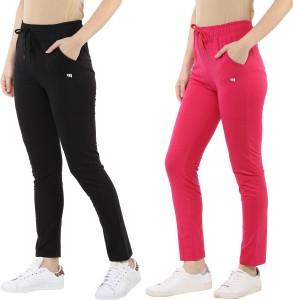 MODEVE Solid Women Black, Pink Track Pants