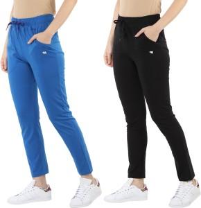 MODEVE Solid Women Blue, Black Track Pants