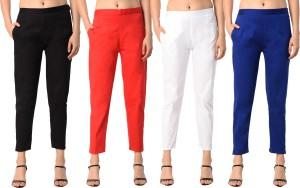 PAMO Slim Fit Women Multicolor Trousers