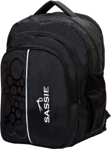 Sassie 41L Black School Bag & Travel with 4 compartments (SSN-1077) Waterproof School Bag