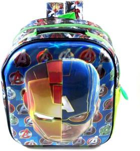 Ehuntz Captain America Vs Iron man 5D embossed school Bag (Pre Nursery & Nursery) (EH1124) Waterproof School Bag