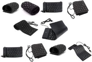 ROQ Set Of 10 Premium Series Flexible Wired USB Laptop Keyboard