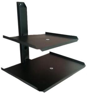 Smart Shelter Double Deck Set Top Box / DVD / Stabilizer / Playstation Wall Mount 30 Shelf Bracket