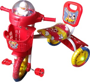 Confiado Modern Red Musical Tricycle For Kids Tricycle