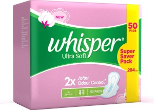 Whisper Ultra Soft XL Wings Sanitary Pad ( Pack of 50 )