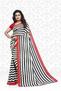 Divastri Striped Daily Wear Faux Georgette Saree