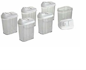 Shrih Dispenser Easy Flow Storage Jar 1100ml 6 Pcs Set  - 1100 ml Plastic Grocery Container
