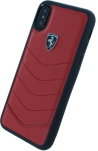 competitive price 64f20 9416f Ferrari Back Cover for Apple iPhone XRED, Hard Case, Leather