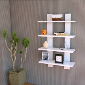 MartCrown Hotel wall decor rack Wooden Wall Shelf