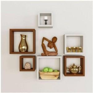 MartCrown square multi racks Wooden Wall Shelf
