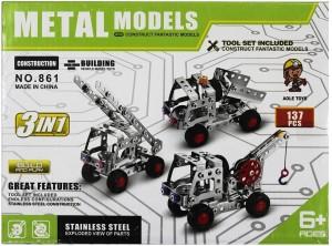 Pepperonz 137 Pcs Metal Models Building Construction Model Toys