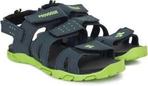 Provogue Men Black Lime Sports Sandals