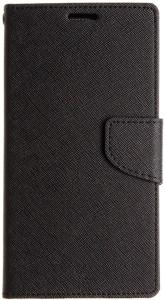 SAMARA Flip Cover for Mi Redmi 1S Black, Artificial Leather