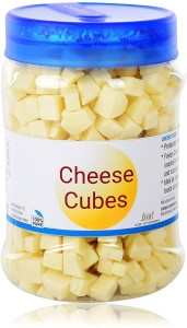 Nutra Vita Freeze Dried fine Cheese Cubes Made from Best Quality Cheese  100g, Packed in Food Grade,BPA Free Reusable PET Bottle 100 g