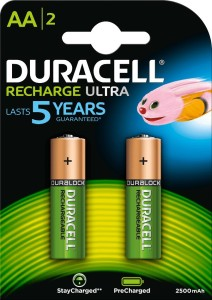 Duracell RECHARGE ULTRA AA NiMH 2500mAh/1.2V  Battery Pack of 2