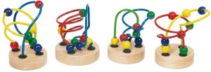 Goki Mini Bead Maze Approx (7 - 9 cms Height) (Any 1 Unit Randomly Selected of 4 Displayed Designs)
