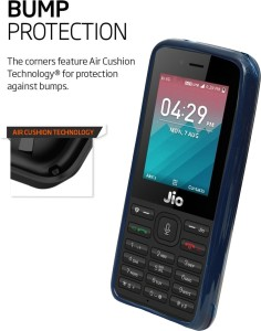 the best attitude 2c2ab 51fc2 ECellStreet Back Cover for LYF Jio LF 2403 | Jio Phone 2403TBlue, Shock  Proof, Flexible Case