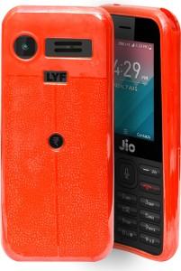 cheaper f0ef5 c7c82 ECellStreet Back Cover for LYF Jio LF 2403 | Jio Phone 2403TRed, Shock  Proof, Flexible Case