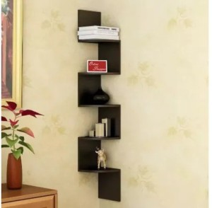 Onlineshoppee Zigzag corner wall shelf MDF Wall Shelf