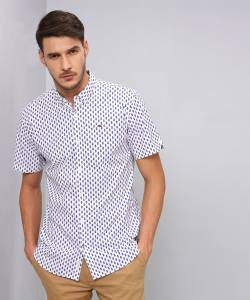 Tommy Hilfiger Men's Printed Casual Slim Shirt