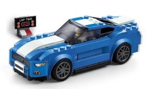 Emob 203 PCS Classic Super Racing Car Theme 3D Bricks Building Blocks Toy for Kids
