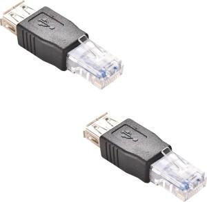 ACUTAS RJ45 Male to USB 2.0 AF A Female Adapter Connector Laptop LAN Network Cable Ethernet Converter Transverter Plug LAN Cable