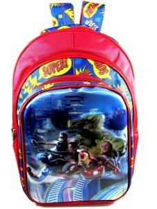 Ehuntz Captain America VS iron man, Hulk 5D embossed school Bag (9 to 17 years) (EH1164) Waterproof School Bag