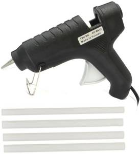 FADMAN ITEK BLACK 40W 40 WATT HOT MELT GUN WITH FREE 4 GLUE STICKS Standard Temperature Corded Glue Gun