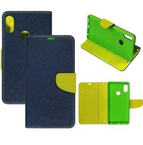buy popular b0c37 69454 RidivishN Flip Cover for Mi Redmi Y2, Mi Redmi Y2Blue, Cloth, Rubber
