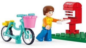 Sluban Girls Dream Letter Delievery Mail Carrier Building Block Toys   29Pieces   Compatible  Educational Toy M38-B0516