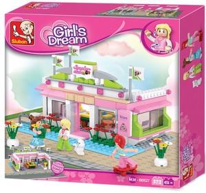 Sluban Girls Dream Snooker Club Building Block Toys   289PCS   LEGO Compatible   Educational Toy For Kids   M38-B0527