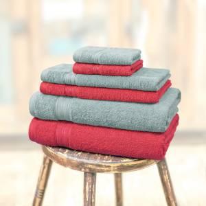 Swiss Republic Cotton 480 GSM Bath, Hand, Face Towel Set