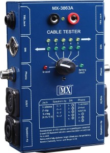 MX Audio Cable Tester Tests XLR 6.35mm TRS 1/4