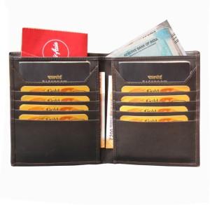 ABYS Genuine Leather Brown Travel Organizer||Passport Holder||Card Case||Passport Wallet for 2 Passports